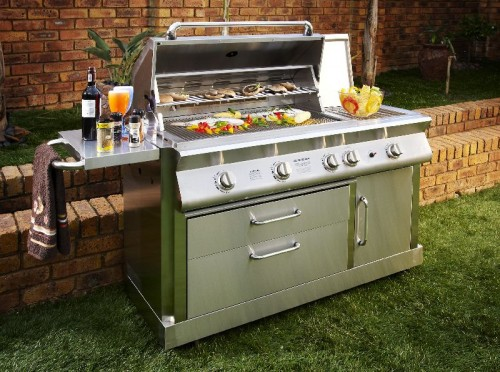 5 burner portable gas braai